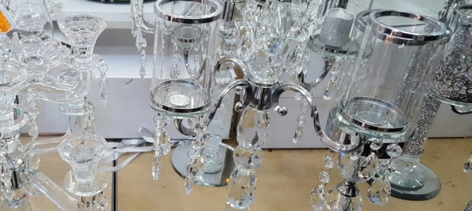 Glazen kandelaar