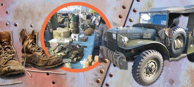 Zondag 11 oktober:  Militariabeurs